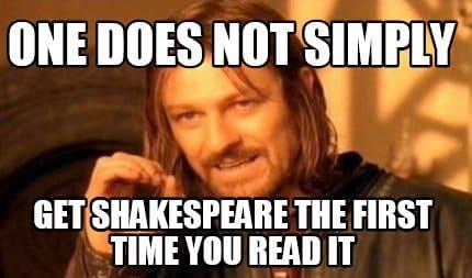 shakespeare memes - reading