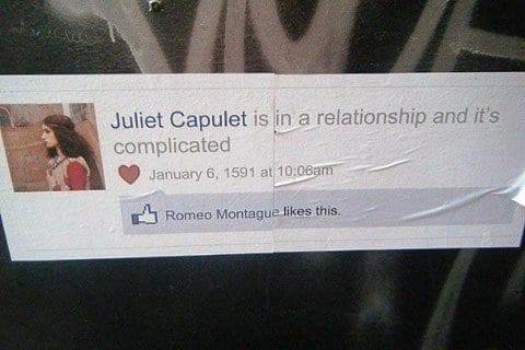 Juliet hits facebook