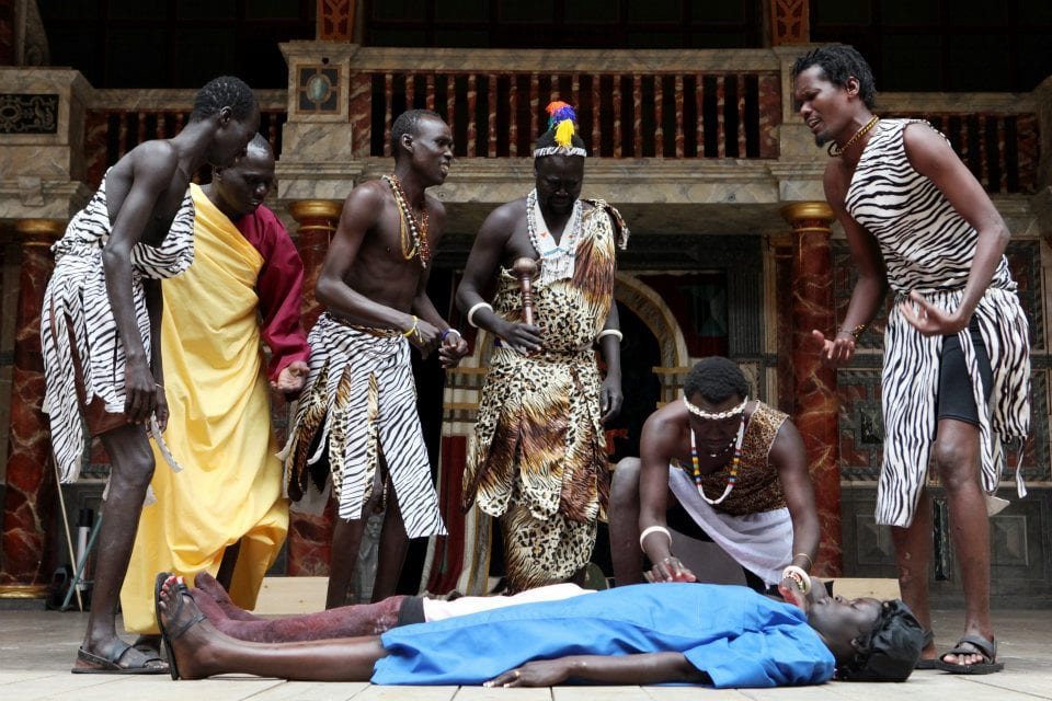 The South Sudanese Theatre Company perform Shakespeare's Romance play Cymbeline