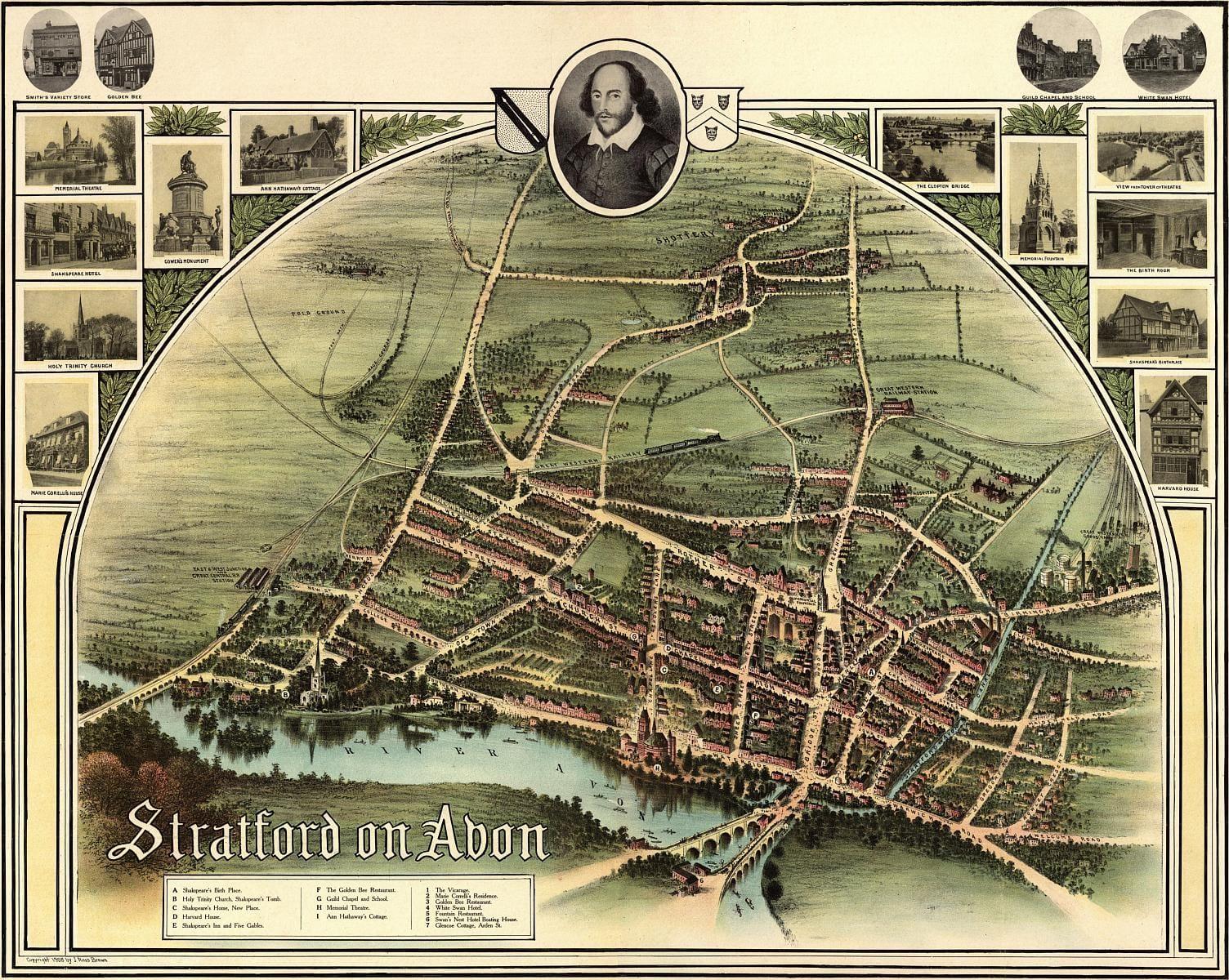 stratford upon avon ancient map