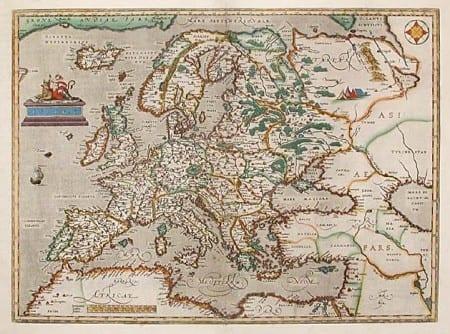Map of 16th century Europe