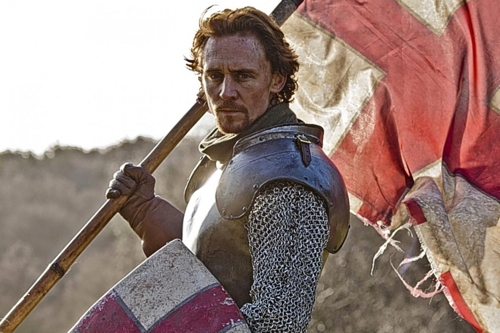 Henry V, as played by Tom Hiddleston in the BBC's Shakespeare adaptation The Hollow Crown