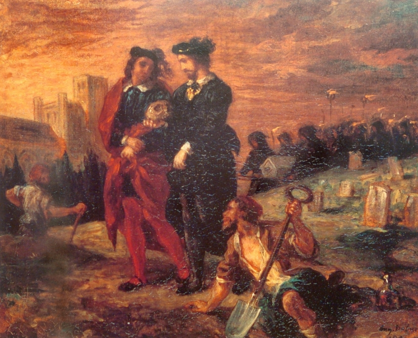 Hamlet and Horatio in the Graveyard (1859; oil on canvas, Louvre)