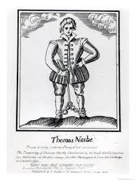 Thomas Nashe 1567 - 1601 1