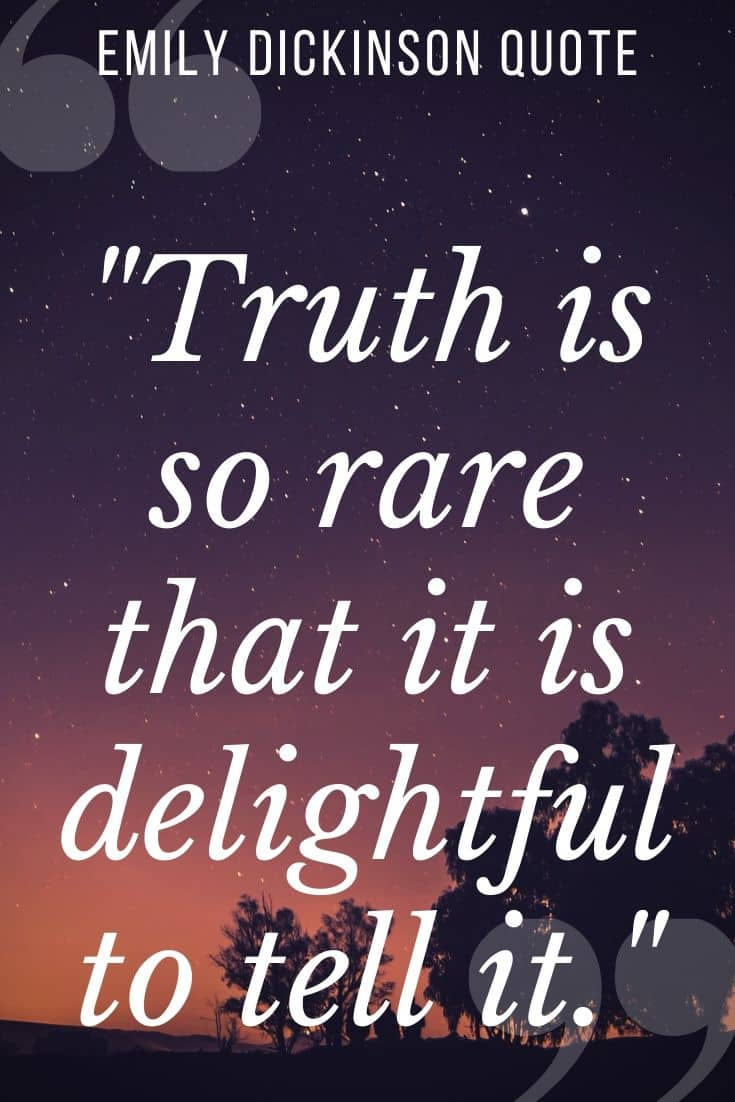 emily dickinson quote on purple dusky backgorund -