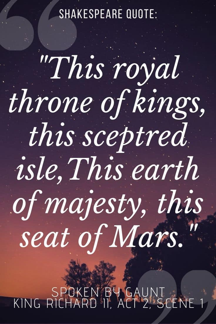 Richard II quotes on sunset backgorund -
