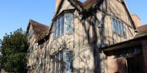 Hall's Croft exterior shot of tudor building exterior