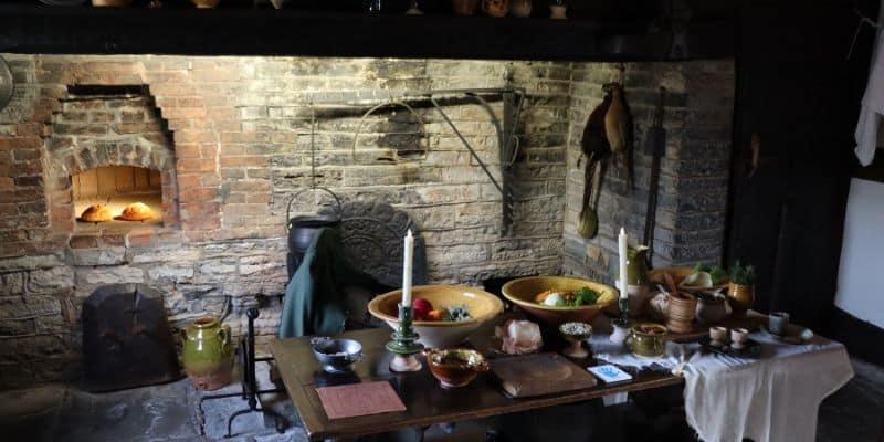 The tudor era kitchen in Anne Hathaway's Cottage