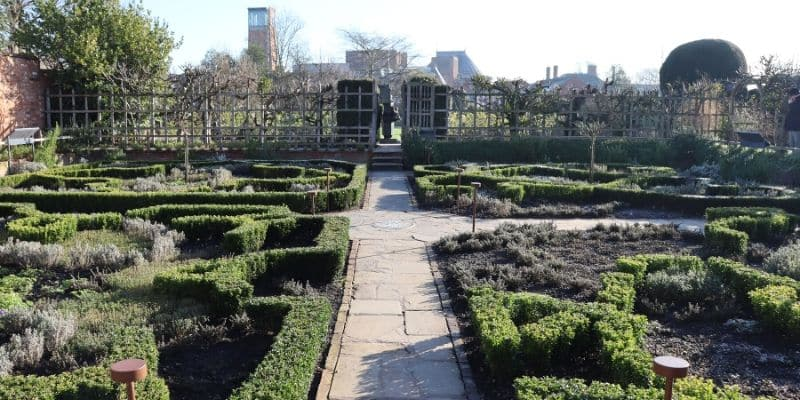 View of knot garden in New Place, Stratford, Shakespeare's retirement location
