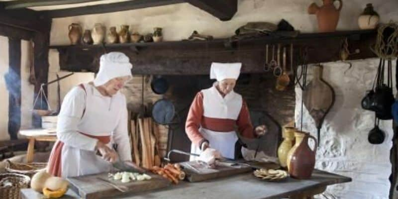The working kitchen at Mary Arden's Farmhouse
