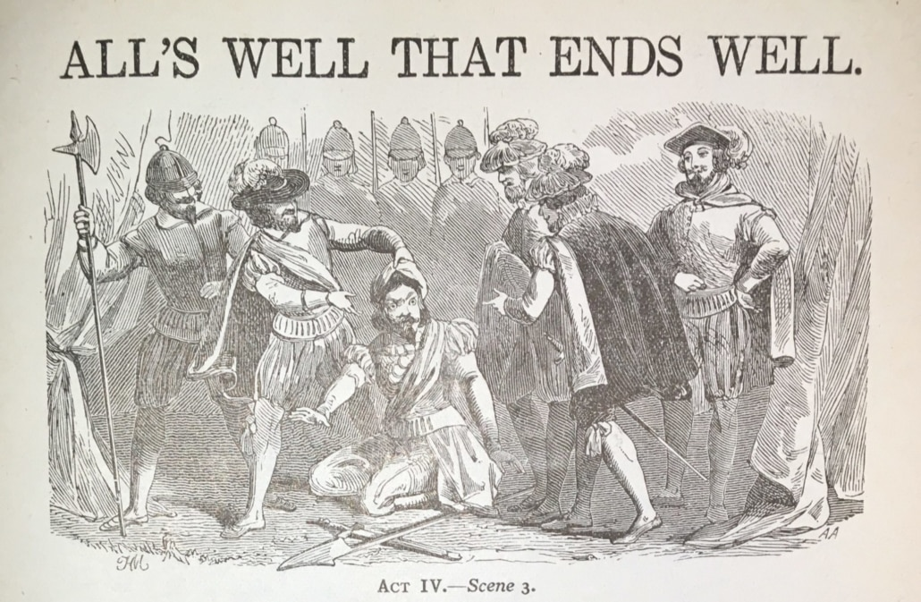 all's well that ends well script, spoken by actors