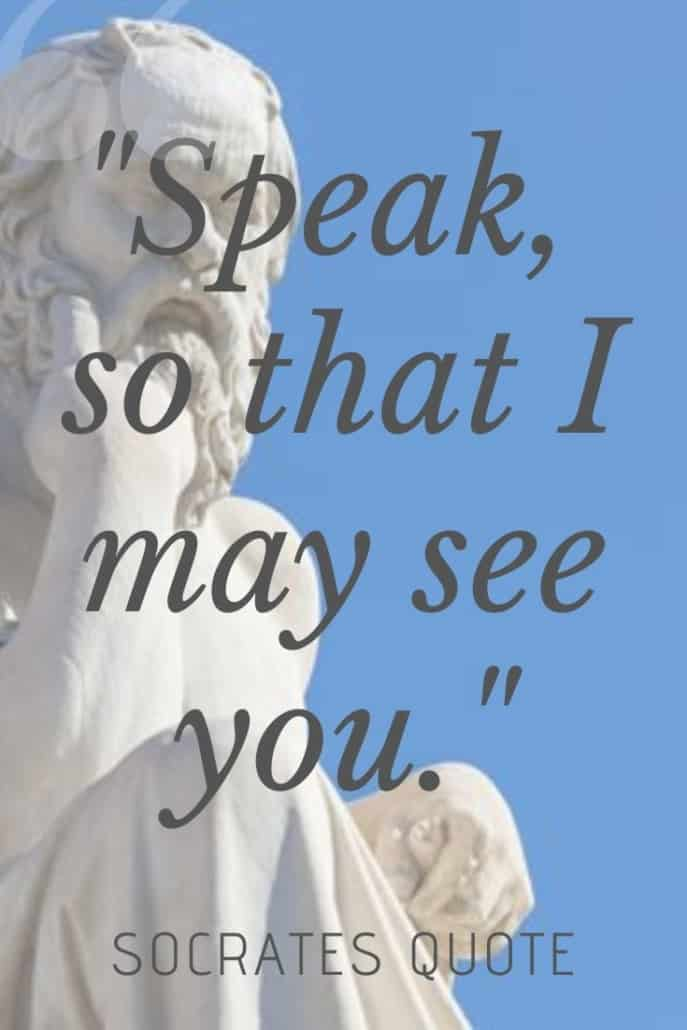 socarates quotes on white and blue background