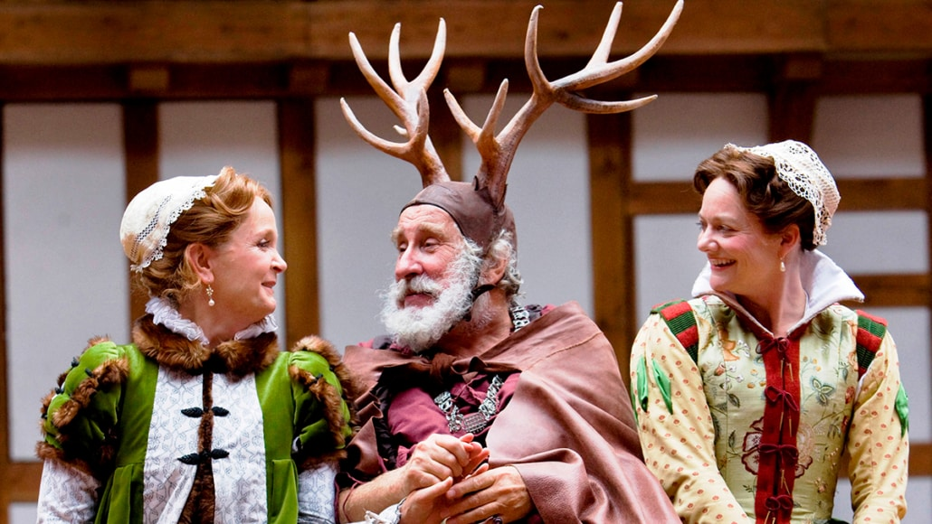 The Merry Wives of Windsor characters Falstaff, Mistress Page and Mistress Ford