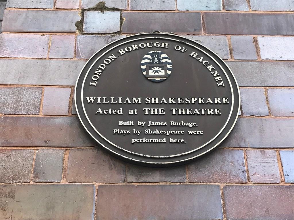 the theatre plaque