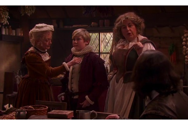 Hamnet Shakespeare with two ladies in BBC's Upstart Crow