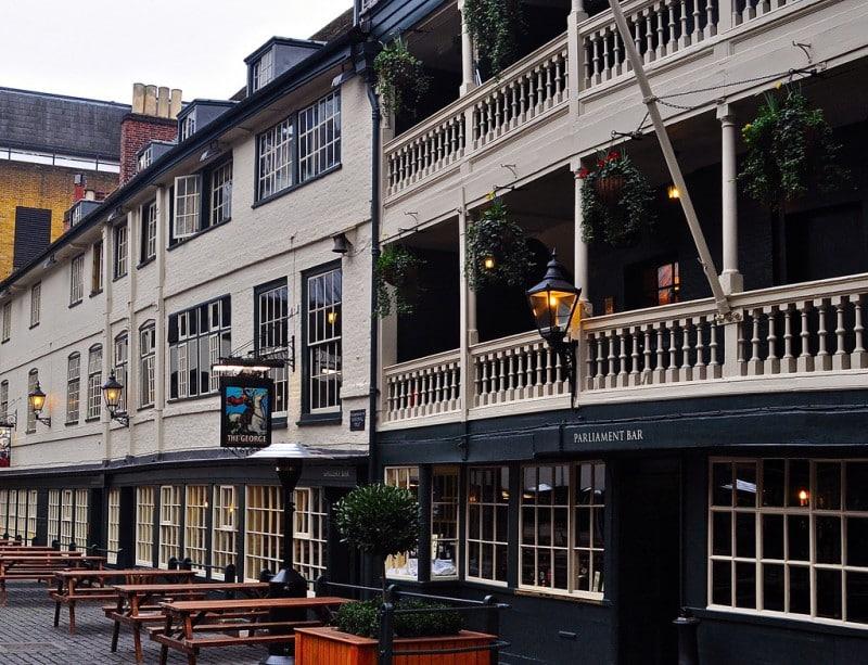 the george inn exterior, ancient pub