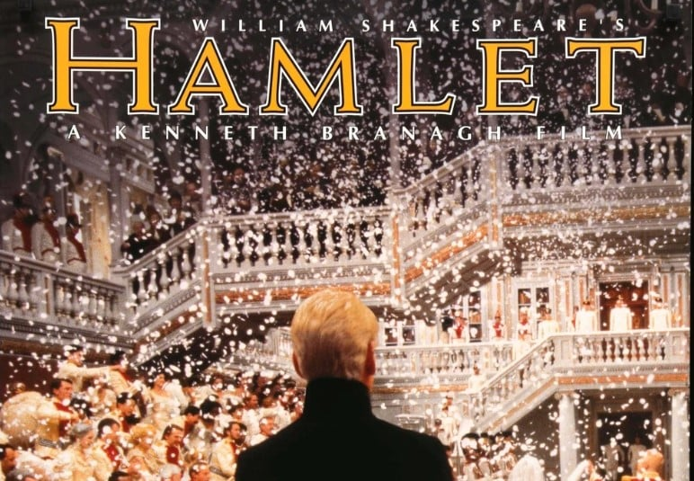Cropped poster of Hamlet 1996 movie
