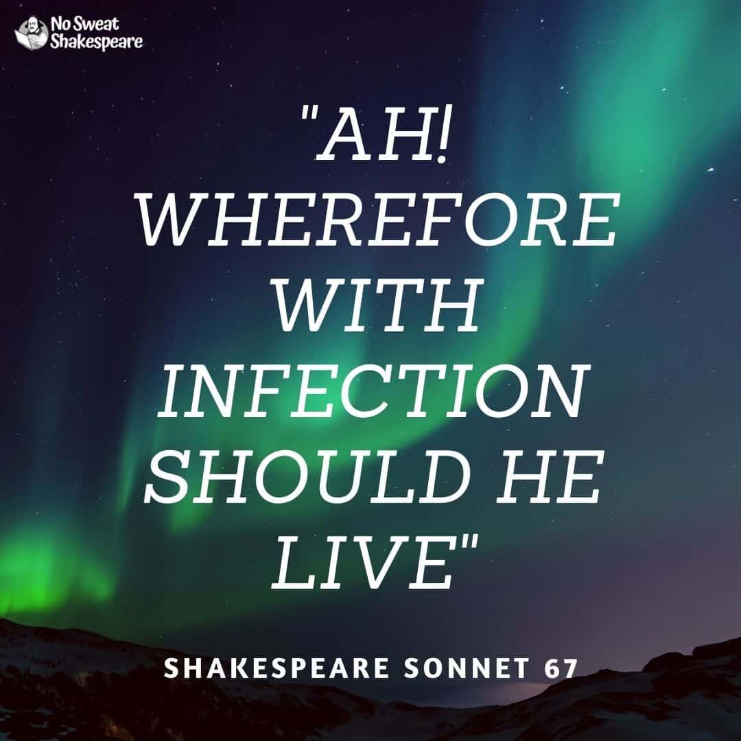 shakespeare sonnet 67 opening line opening line