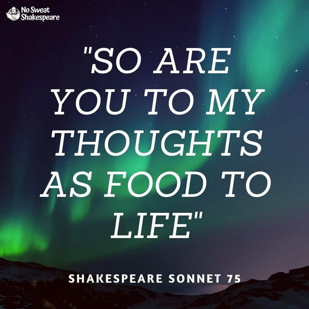 shakespeare sonnet 75 opening line opening line