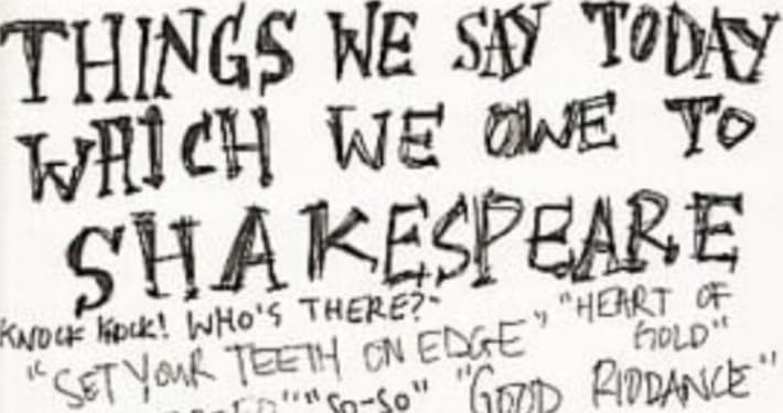 Shakespeare's language featured