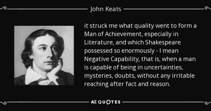 negative capability & john keats